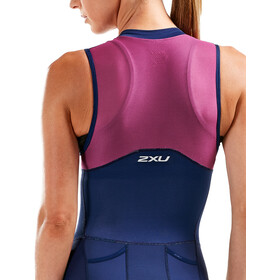 2XU Compression Triatlondragt Damer, navy/very berry white lines